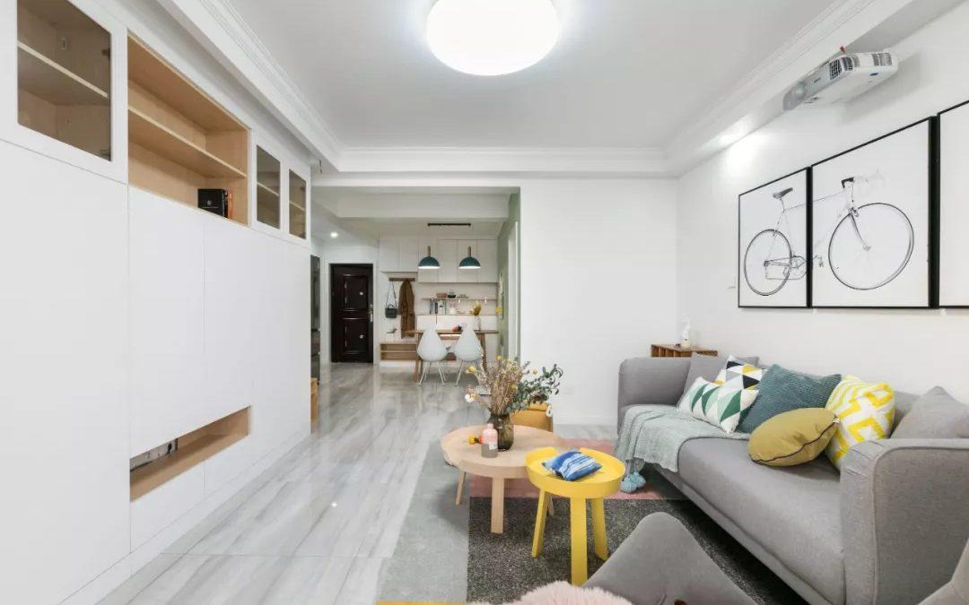 74㎡两室两厅:住了十多年的老房,用薄荷绿+智能家居,打造超实用婚房!